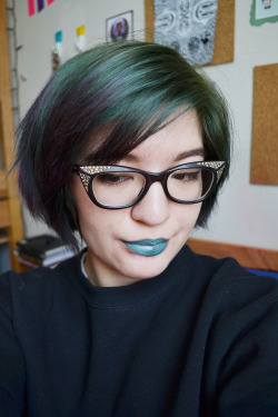 Morgana Cryptoria Vegan Lipstick in Metallic Seafoam