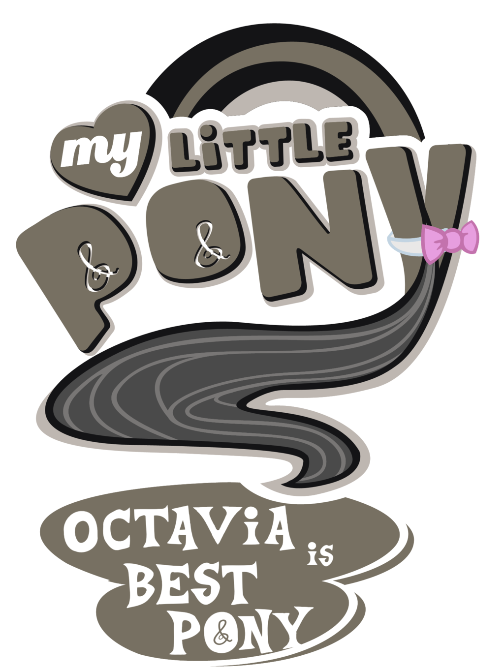 thepoeticpony:  Fanart - MLP. My Little Pony Logo - Octavia by ~jamescorck