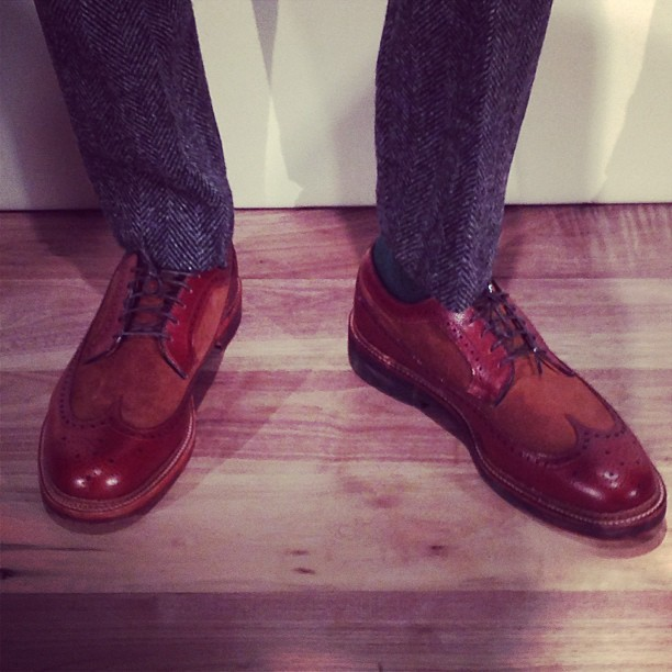 The wingtips at the #JCrew Presentation #nyfw #attheshows  (at Mercedes-Benz Fashion Week)