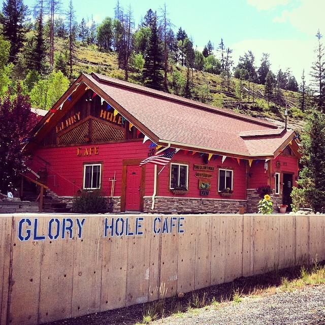 The Glory Hole cafe. Do you think it would suck? :)  #Colorado #cafe #gloryhole #funny #haha #usa #travel #eat #food #suck  (at Glory Hole Cafe)