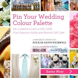 Pinning your dream wedding? Enter our Pinterest contest to win a USD $1000 Four Seasons Gift Card! Visit magazine.fourseasons.com/weddings for more details.