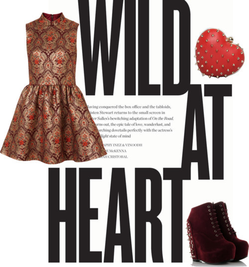 Wild at heart por julianajace usando short dressesShort dress / Lace up boots, $30 / Mata Hari