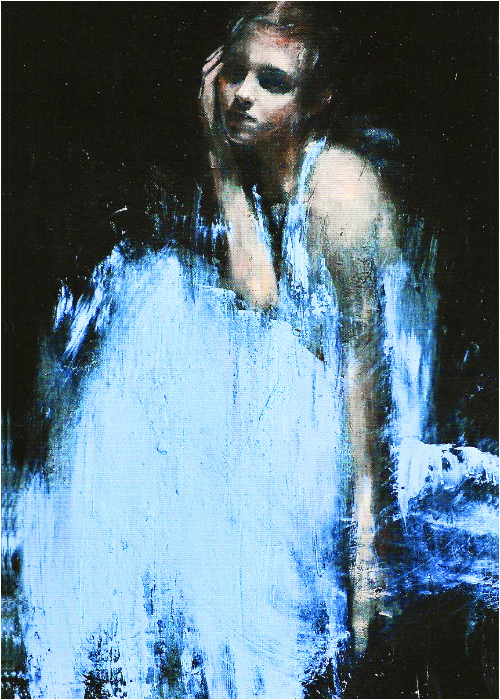 Emma Watson painted by MARK DEMSTEADER