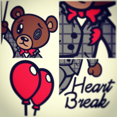 """Half Face X The HeartBreak TeddyBear"" In Omi Omidiji's early teens he suffered a major heartbreak, resulting in lack of creativity. The solution? Disposing of every feeling he had, and trapping them in a teddy bear. The result? The finest Menswear collection on ""some distant planet"" The Heartbreak Teddy Bear collection- A Half Face story"