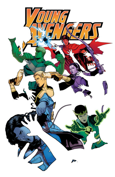 "mckelvie:  YOUNG AVENGERS #5 KIERON GILLEN (W) JAMIE MCKELVIE (A & C) VARIANT COVER BY JIM CHEUNG • The book where when a character says ""I did it half an hour ago"" normally means doing ""it"" half an hour ago reaches its first epic conclusion. • Why Did Loki Do It? No one kno… okay, we'll tell you… Well, part of it. • Miss America probably punches someone. She usually does. 32 PGS./Rated T+ …$2.99 More on Marvel.com: marvel.com/news/story/20099/first_look_may_2013_avengers_…"