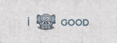 "reebs-philosophy:  I ""feel"" good. (feel=elephant in Arabic)"