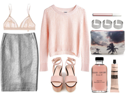 thepolyvorecollection:  pink & soft by rosiee22 featuring wedge high heels  I hope polyvore fully understands the lasting impact posts such as this have on my bank account.