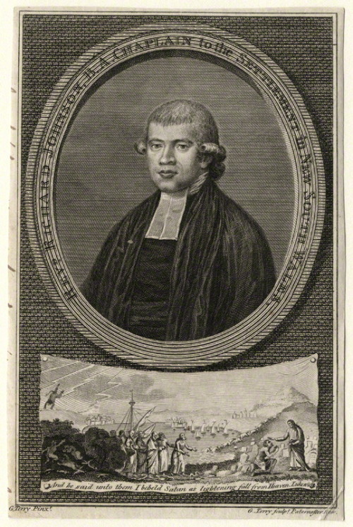 "Reverend Richard Johnson (1756-1827) Johnson preached the very first sermon in the colony of New South Wales on Sunday, 3 February 1788. The sermon (commemorated by a plaque) was on Psalm 116:12; ""What shall I render unto the Lord for all that he has done for me?"" (Wikipedia)  by Garnet Terry line engraving, published 1787 7 in. x 4 5/8 in. (177 mm x 117 mm) paper size NPG D16752"