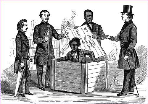 "Henry Brown or later known as Henry ""Box"" Brown was a slave who escaped his master by being shipped to Philadelphia in a BOX. crazy and inspiring."