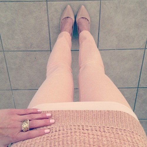 Pastel Pink #thinkspring Jeans: Gap Sweater: Found: Zany Nails: butter LONDON Teddy Girl