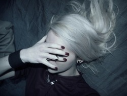 pretty hair white ring black Grunge nail polish Alternative goth emo necklace scene gothic pale pastel goth white hair Goth girl earing