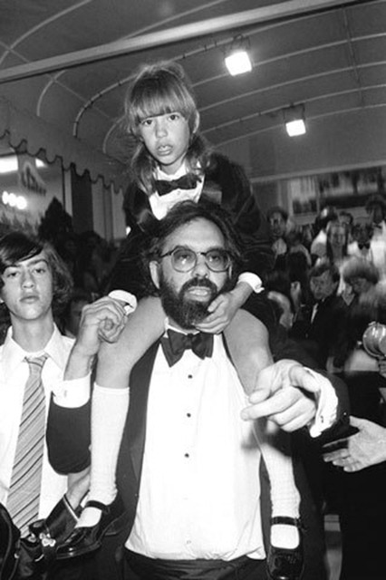 Francis Ford Coppola with Sofia Coppola at the 1976 Cannes Film Festival