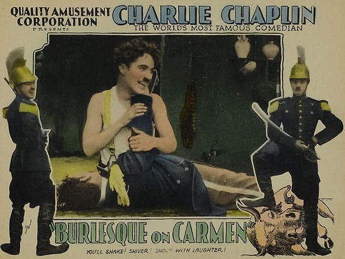 Lovely Lobby Card for Burlesque on Carmen  via discoveringchaplin.com