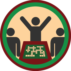 lifescouts:  Lifescouts: Scrabble Badge If you have this badge, reblog it and share your story! Look through the notes to read other people's stories. Click here to buy this badge physically (ships worldwide). Lifescouts is a badge-collecting community of people who share real-world experiences online.  More like Squabble! Yeah? YEAH!?  No. I've had very nice games of Scrabble.  Played a lot of it in Miami and got peeved that people would put things like CAT when I had wonderful words just waiting for me to put them down.  WASTE OF AN 'A'! Anyway, fun game.  BADGES; 20
