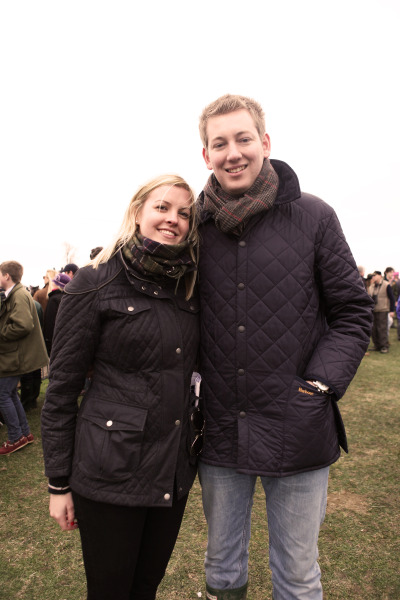 Wrapped up warm for their day at the point to point