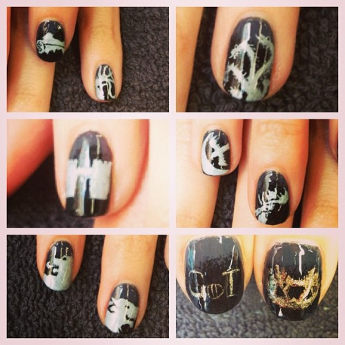 thatjanedesigns:  Detail of my #gameofthrones #nails #housefrey #housearryn #housestark #housetully #housegreyjoy #housebaratheon #houselannister #housetargaryen #sigil #renleyscrown #got #flynails #nailart #bam #notyomamasnails