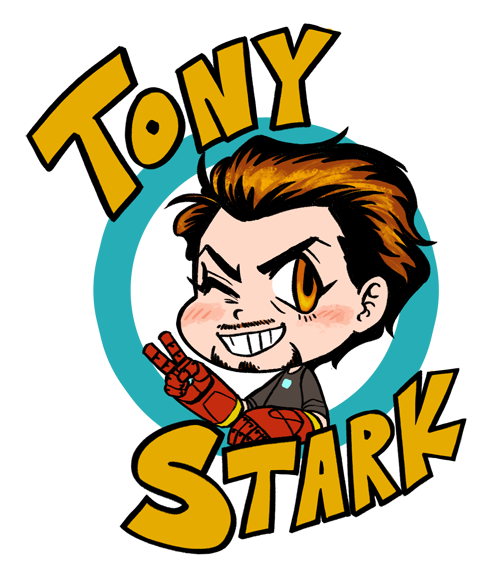 i draws another chibi tony 8V  will draw bruce later i gees