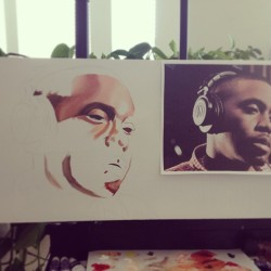 An hour in. #nas #art #painting #oilpainting #workinprogress #wip #denver