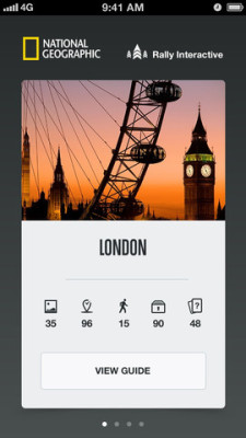 icons on City Guides by National Geographic