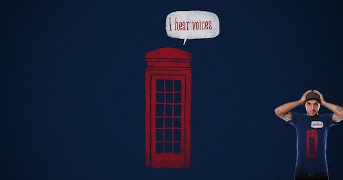 Paranoid Phone Booth by jameses_x is up for scoring on Threadless!