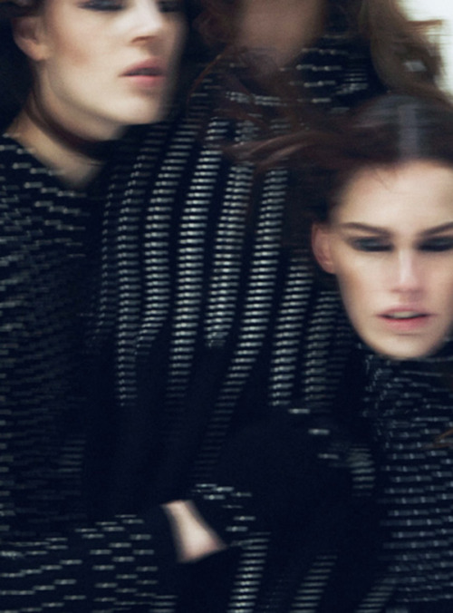 lasherx:  'Happening' Giedre Kiaulenaite & Lisa Verberght photographed by Txema Yeste for 10 Magazine #47