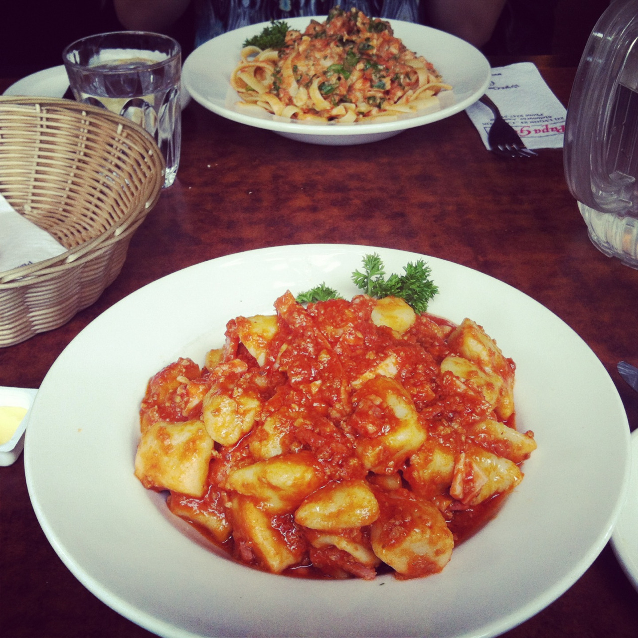 Pasta from Lygon street, Melbourne's Little Italy!