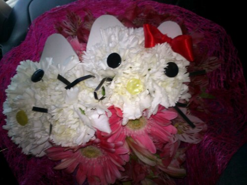 Hello kitty flowers ^_^
