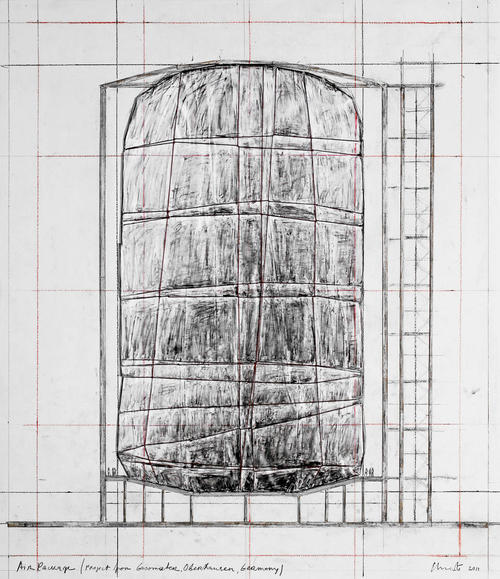 "The Big Air Package is Christo's major first public work since the death of his partner Jeanne- Claude in 2009. The largest ever inflated envelope without a skeleton, the Big Air Package is on view at the Gasometer Oberhausen in Germany through December 30, 2013.  The artist typically works in monumental scale, using a site or specific building as a point of departure for a project installation. ""In this case, a 90 meter-high inflatable envelope occupies 177,000 cubic meters which are contained within 20,350 square meters of semitransparent polyester fabric kept together with 4,500 meters of rope. The 5 ton form fills the interior of a former gas tank, amplifying the ethereal quality of the space with diffused light. Christo describes the experience as 'virtually swimming in light' as a result of the vast expanses of fabric."" (via Designboom)"