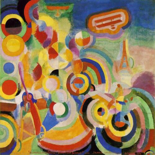 Robert Delaunay, Homage to Bleriot, 1914
