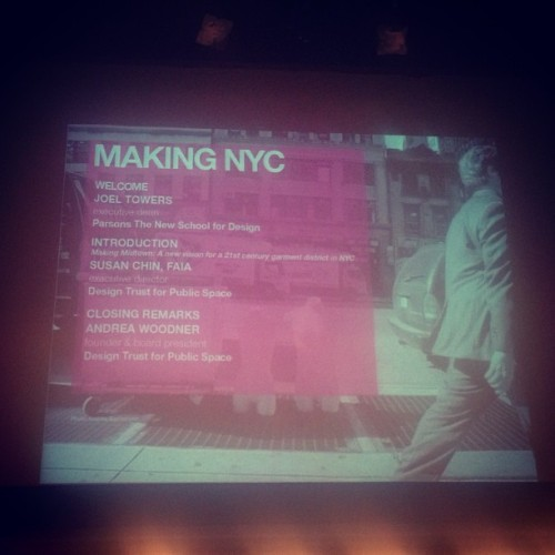 Getting excited about making #NYC and all the great things going on in this wonderful city. #Fashion #NYCXDesign  (at Parsons The School of Fashion)