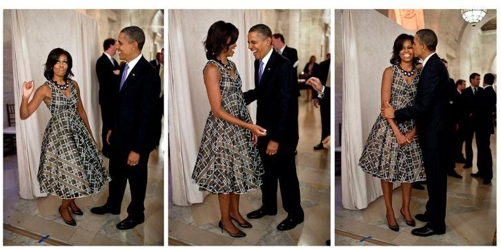 barackobama:  Happy birthday to our very favorite FLOTUS.  I love the shot of her on the left.