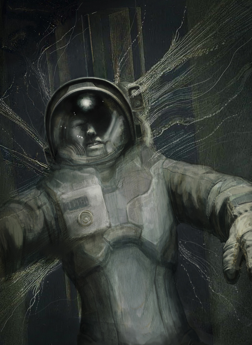 Personal series of illustrations of the classic Russian Sci-Fi novella Roadside Picnic…initial watercolour paired with the finished image.