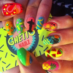 ghettonailz:  Brazilian ghetto Nailz 4 @raisahrmd ☀🌴🍉🍍🙏  (at Lanikai)