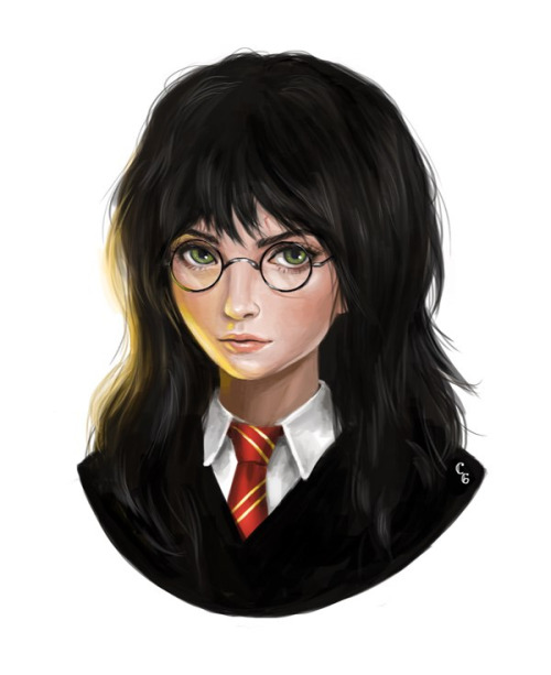 ashschange:  If Harry Potter was a Girl- Artist Unknown