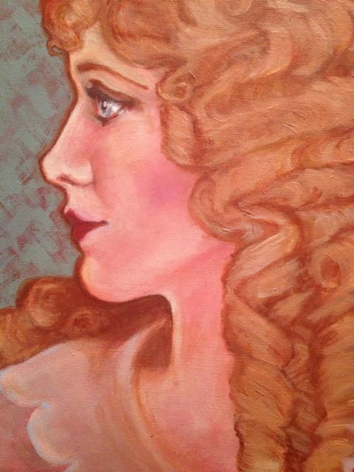 Mary Pickford. Painting by Katherine Brookes, December 2012