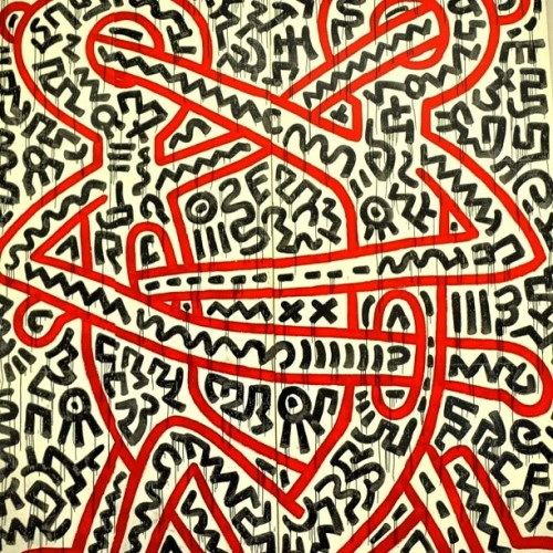 moveableinsight:  #KeithHaring #art #ideas #tattoos mind/heart stabbing