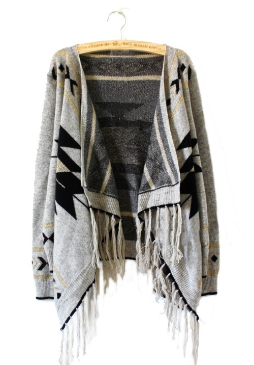 Aztec print cardigan. Lovely!