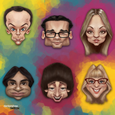 eatsleepdraw:  The Big Bang Theory by dankershaw