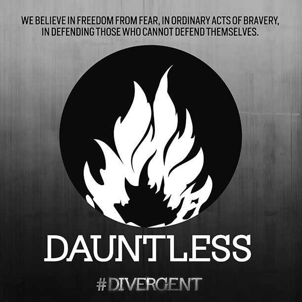 #Dauntless faction symbol from the movie. So excited for the rest of the reveals! #divergent #divergentmovie #insurgent #bravery #tobias #tris #christina #faction #movie #reveal #ew #entertainmentweekly
