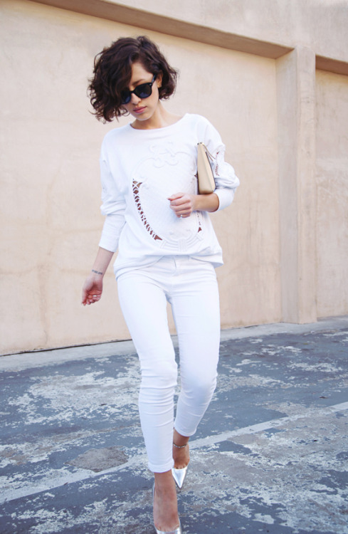 All white everything 💜