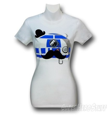 Sir R2-D2 greets you this morning. (via Star Wars Fancy R2D2 Juniors T-Shirt)