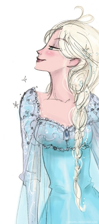 A quick sketch of Queen Elsa ^_^