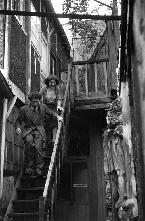 Henri Cartier-Bresson - Annette and Alberto Giacometti, Paris, c. 1946