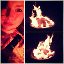 #stars#fire#wine#goodnight#missinmybonfirebuds#instacollage