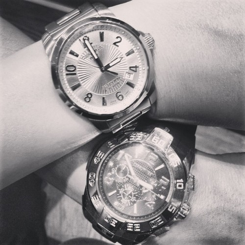 His & hers #watches ⌚👫 @pujoy #Certina #Cerruti #willow