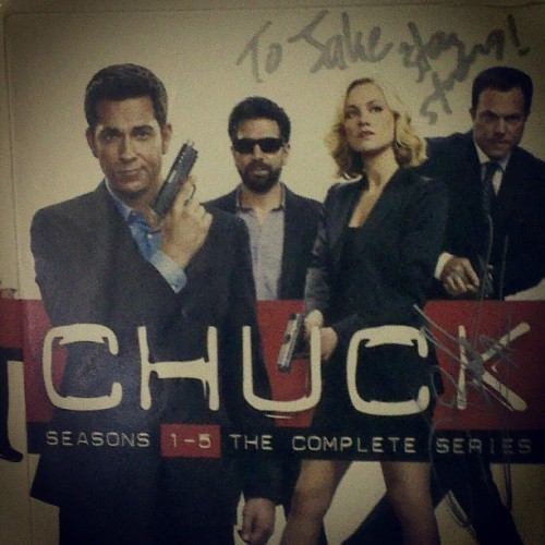 Got my #Chuck boxset signed by @adamsbaldwin