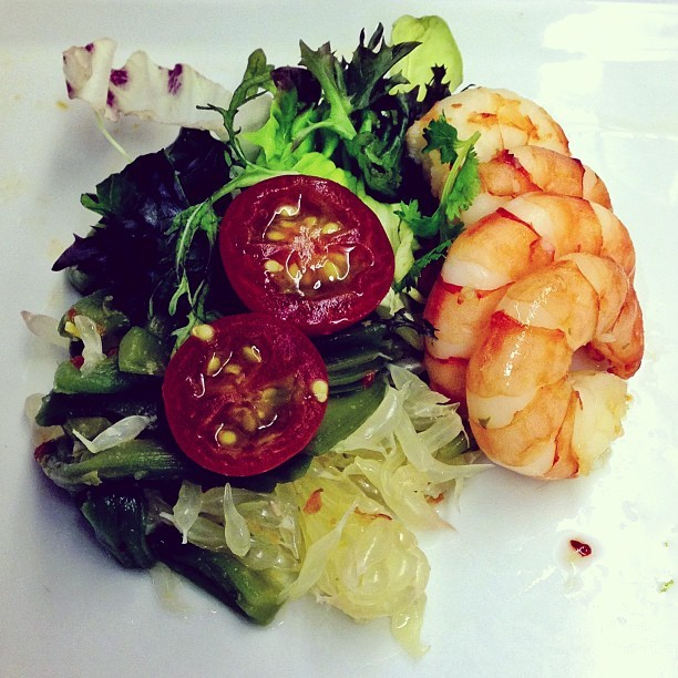 #Prawn #Salad - #businessclass #singaporeairlines #travel #food