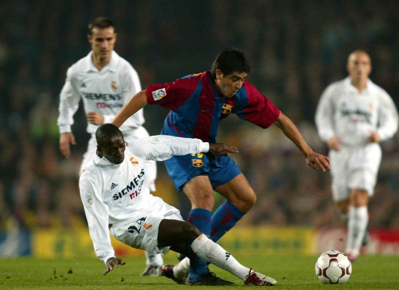 Riquelme and Makelele in action, 2002/03.Source: TheScore