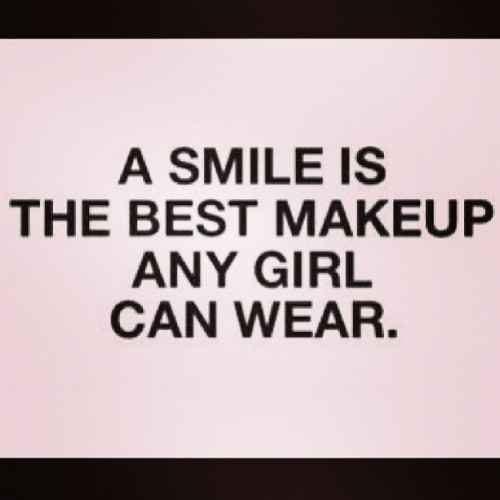 Smile! #makeup #girls