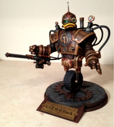 Steampunk GizmoDuck sculpture by Tim Wollweber (via Tim W Art)